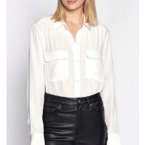Equipment Silk Button-Down Shirt in Ivory